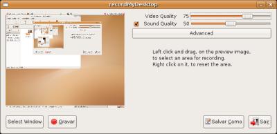 gtk-recordMyDesktop Opções